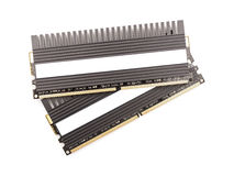 RAM Computer Memory Chip Modules With Heatsink Stock Images