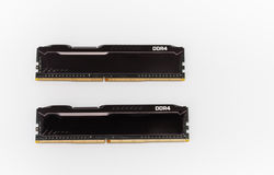 Ram DDR4 memory modules on white background Stock Image