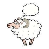 RAM de bande dessinée avec la bulle de pensée Image libre de droits