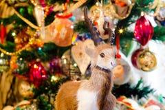 Ram de la piel de la Navidad Imagen de archivo libre de regalías