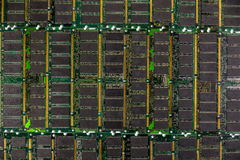 RAM de RDA, módulos de los chips de memoria del ordenador Fotografía de archivo libre de regalías