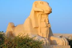 A ram dirigiu o sphinx Imagens de Stock Royalty Free