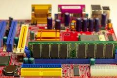 RAM en la placa madre imagen de archivo libre de regalías