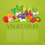 Ram för bästa sikt för grönsaker Design för bondemarknadsmeny Affisch för organisk mat Den drog tappninghanden skissar vektorn Royaltyfri Fotografi