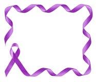 Ram för band för medvetenhet för bukspottkörtel- cancer purpurfärgad arkivbild
