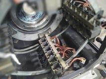 Ram för Dc-motorborste arkivbild