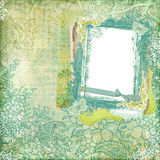 ram för design för artistibakgrundsbatik blom- Royaltyfri Foto