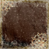 ram för design för artistibakgrundsbatik blom- Arkivbilder