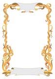 Ram för diplom med abstrakta växtlinjer royaltyfri illustrationer