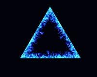 Ram för flammor för triangelbrand Arkivfoto