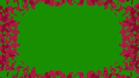 Ram för foto av rosa färgroskronblad med den alfabetiska kanalen vektor illustrationer