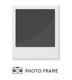 Ram för foto för vektorillustration Retro Arkivfoton