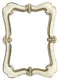 Ram för foto med pärlor som isoleras på vit bakgrund Arkivfoto