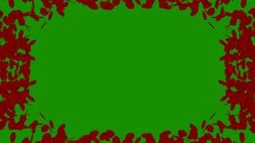 Ram för fotoet av röda roskronblad med den alfabetiska kanalen vektor illustrationer