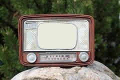 Ram för fotoet - gammal radio Arkivbilder