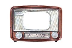 Ram för fotoet - gammal radio isolerat Royaltyfri Foto