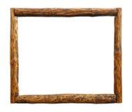 Ram för gräns för journal för gammal tappninggrunge trä royaltyfri foto