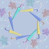Ram för höstkort Royaltyfri Foto