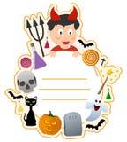 Ram för Halloween pojkebokomslag Royaltyfri Fotografi