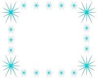 Ram för iskristall på vit bakgrund med kopieringsutrymme stock illustrationer