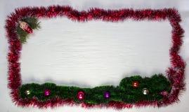 Ram för jul eller nytt års Arkivbilder