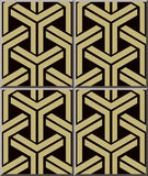 Ram för kors för geometri för triangel 3D för modell 376 för keramisk tegelplatta Royaltyfria Foton
