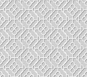 Ram för kors för kurva för bakgrund 312 för modell för konst för papper 3D för vektor damast sömlösa rund Royaltyfri Fotografi