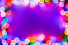 Ram för ljus för julbokeh flerfärgad fotografering för bildbyråer