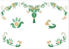 Ram för modell för tusensköna för ramröd-apelsin florets för text Royaltyfria Foton