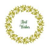 Ram för olikt blad för konstverk för vektorillustration blom- med dekorativt av kortgratulationer stock illustrationer