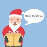 Ram för Santa Claus cartoonwithtext Arkivbilder