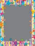 Ram för stjärnakläderexponeringsglas royaltyfri illustrationer