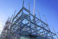 Ram för strukturellt stål för nybygge fotografering för bildbyråer