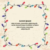 Ram för tappning för julljus för din design stock illustrationer