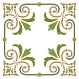 Ram för växtbladgräns Arkivfoton