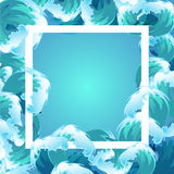Ram för våg för blått vatten för hav Fotografering för Bildbyråer