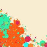 Ram för vattenfärgmålarfärgfärgstänk Royaltyfria Bilder