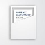 Ram för vektor 3D. Design för bild Arkivbilder