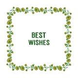 Ram f?r krans f?r vektorillustration gul f?r dekorativt av gratulationer royaltyfri illustrationer