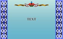 Ram f?r text i stilen av den ?stliga prydnaden royaltyfri bild