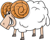 Ram farm animal cartoon Royalty Free Stock Images
