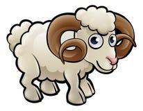 Ram Farm Animals Cartoon Character stock illustration
