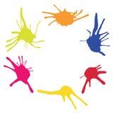 Ram från färgfläckar Stock Illustrationer