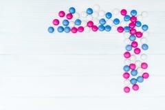 Ram från färgrika mintkaramellgodisar Arkivbilder