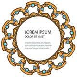 Ram från juvlar royaltyfri illustrationer