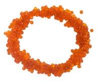 Ram från röd kaviar som isoleras på vit bakgrund arkivfoto