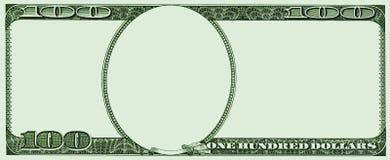 Ram från 100 USA dollar Arkivfoto