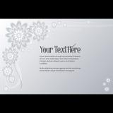 Ram för text med elegant abstrakt blom- motiv Royaltyfria Foton