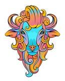 Ram Head Royalty-vrije Stock Afbeeldingen