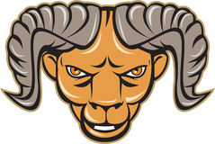 Ram Head Isolated Cartoon Immagine Stock Libera da Diritti